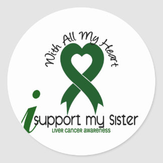 LIVER CANCER I Support My Sister Stickers