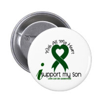 LIVER CANCER I Support My Son Button
