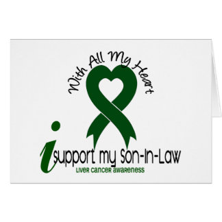 LIVER CANCER I Support My Son-In-Law Card