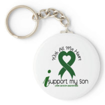 LIVER CANCER I Support My Son Keychain