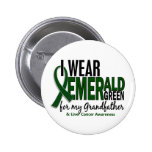 Liver Cancer I Wear E Green For My Grandfather 10 2 Inch Round Button