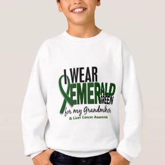 Liver Cancer I Wear E Green For My Grandmother 10 Sweatshirt