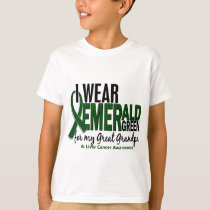 Liver Cancer I Wear E Green For My Great Grandpa T-Shirt