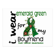 Liver Cancer I Wear Emerald For My Boyfriend 43 Postcard