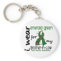 Liver Cancer I Wear Emerald For My Brother-In-Law Keychain