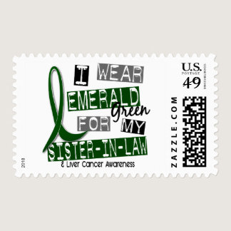 Liver Cancer I Wear Emerald For My Sister-In-Law Postage