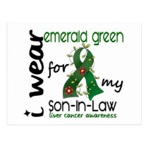 Liver Cancer I Wear Emerald For My Son-In-Law 43 Postcard