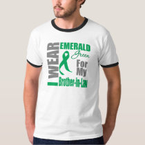 Liver Cancer I Wear Emerald Green Brother-in-Law T-Shirt
