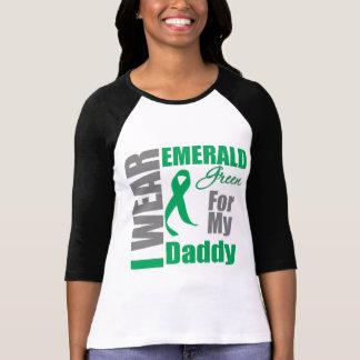 Liver Cancer I Wear Emerald Green Daddy Tee Shirts