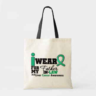 Liver Cancer I Wear Emerald Green Father in Law Canvas Bag