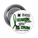 Liver Cancer I Wear Emerald Green For My Aunt 37 Pins