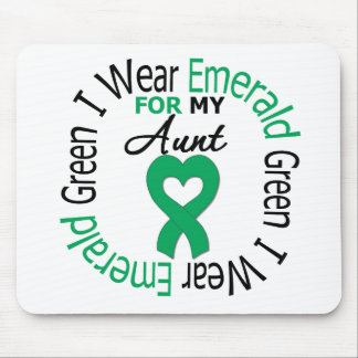 Liver Cancer I Wear Emerald Green For My Aunt Mouse Pads