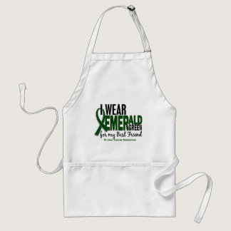 Liver Cancer I Wear Emerald Green For My Best Frie Adult Apron
