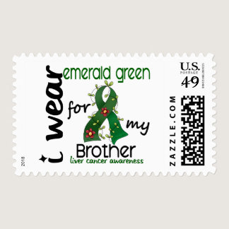 Liver Cancer I Wear Emerald Green For My Brother 4 Postage