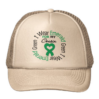 Liver Cancer I Wear Emerald Green For My Cousin Trucker Hat