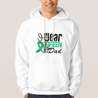 Liver Cancer I Wear Emerald Green For My Dad Hooded Sweatshirt