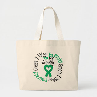 Liver Cancer I Wear Emerald Green For My Daddy Canvas Bags