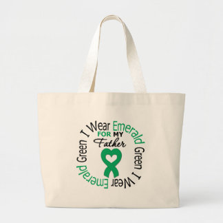 Liver Cancer I Wear Emerald Green For My Father Tote Bag
