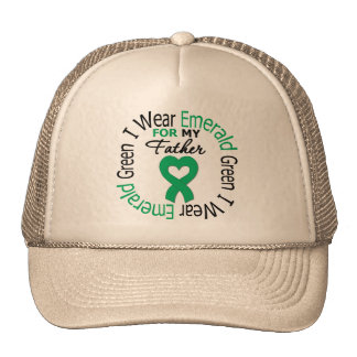 Liver Cancer I Wear Emerald Green For My Father Trucker Hat