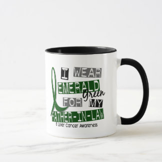 Liver Cancer I Wear Emerald Green For My Father-In Mug