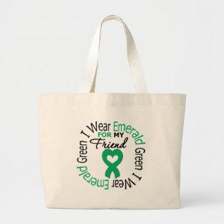 Liver Cancer I Wear Emerald Green For My Friend Bag
