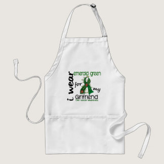Liver Cancer I Wear Emerald Green For My Girlfrien Adult Apron