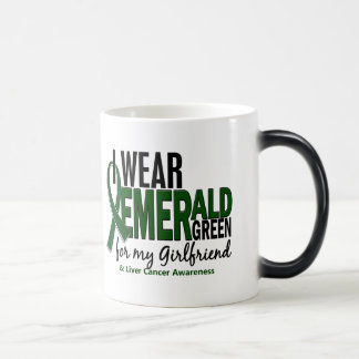 Liver Cancer I Wear Emerald Green For My Girlfrien Magic Mug