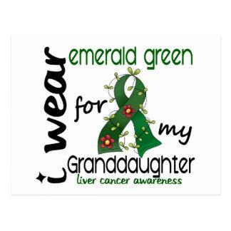 Liver Cancer I Wear Emerald Green For My Granddaug Postcard