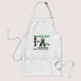 Liver Cancer I Wear Emerald Green For My Grandma Adult Apron