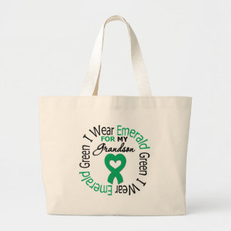 Liver Cancer I Wear Emerald Green For My Grandson Bags