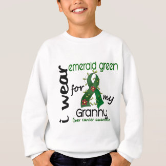 Liver Cancer I Wear Emerald Green For My Granny 43 Sweatshirt