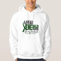 Liver Cancer I Wear Emerald Green For My Husband Hoodie