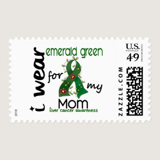 Liver Cancer I Wear Emerald Green For My Mom 43 Postage