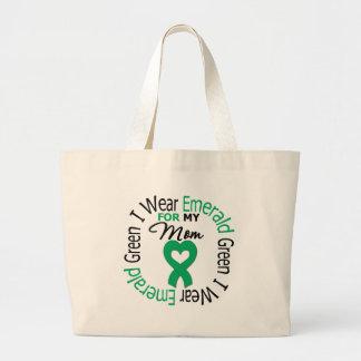 Liver Cancer I Wear Emerald Green For My Mom Bag