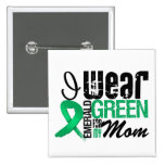 Liver Cancer I Wear Emerald Green For My Mom Pinback Button