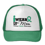 Liver Cancer I Wear Emerald Green For My Mom Trucker Hat