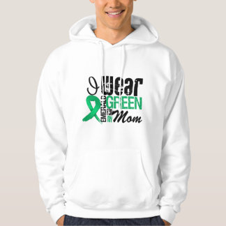 Liver Cancer I Wear Emerald Green For My Mom Hooded Pullover