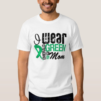 Liver Cancer I Wear Emerald Green For My Mom T-shirt