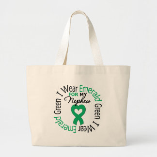Liver Cancer I Wear Emerald Green For My Nephew Bag
