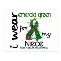 Liver Cancer I Wear Emerald Green For My Niece 43 Postcard