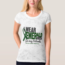 Liver Cancer I Wear Emerald Green For My Patients T-Shirt