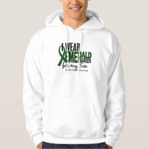 Liver Cancer I Wear Emerald Green For My Son 10 Hoodie