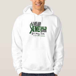 Liver Cancer I Wear Emerald Green For My Son 10 Pullover