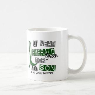 Liver Cancer I Wear Emerald Green For My Son 37 Coffee Mug