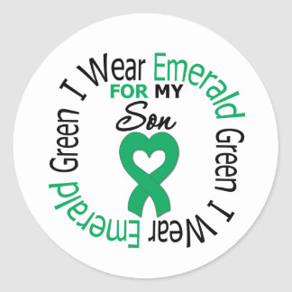 Liver Cancer I Wear Emerald Green For My Son Sticker