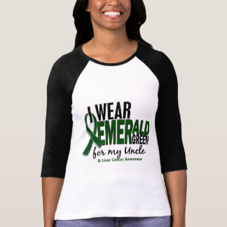 Liver Cancer I Wear Emerald Green For My Uncle 10 T-Shirt