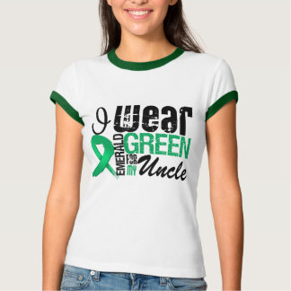 Liver Cancer I Wear Emerald Green For My Uncle T-Shirt