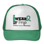Liver Cancer I Wear Emerald Green For My Wife Trucker Hat