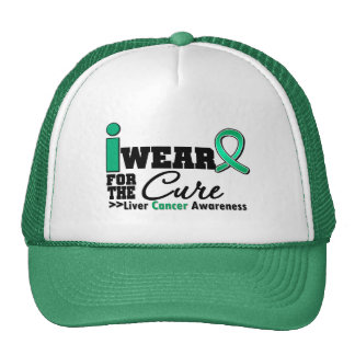 Liver Cancer I Wear Emerald Green For The Cure Trucker Hat