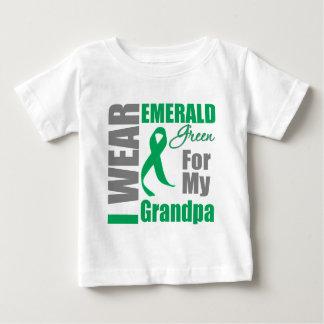 Liver Cancer I Wear Emerald Green Grandpa Infant T-shirt